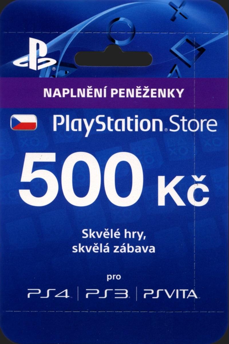 PLAYSTATION LIVE CARDS 500 Kč