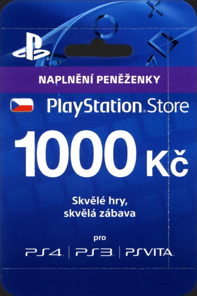 PLAYSTATION LIVE CARDS 1000 Kč