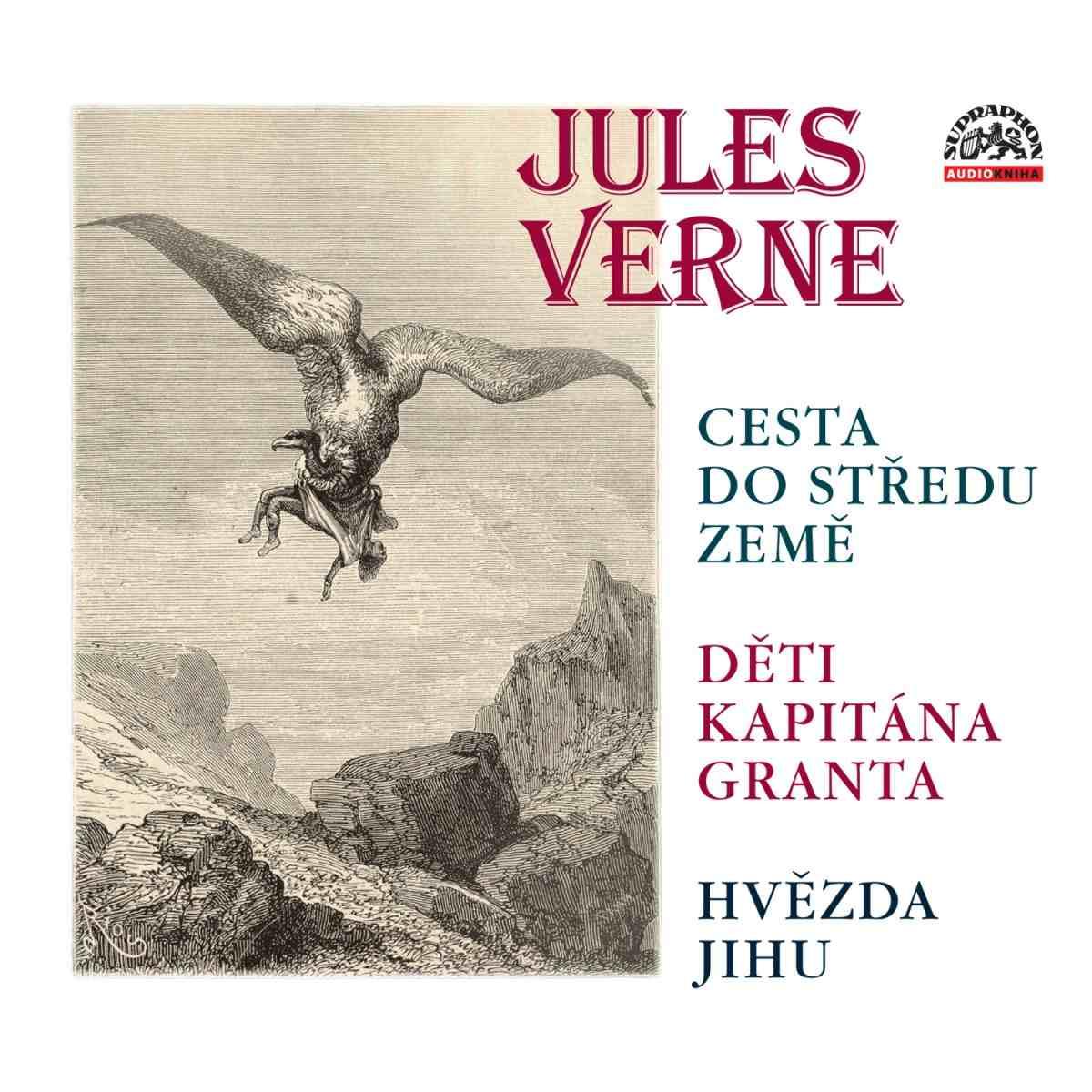 VERNE J. - 3CD (Cesta do středu Země, Děti kapitána granta, Hvězda jihu) - 3 CD