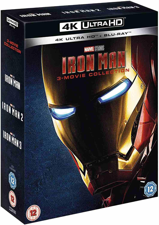 Iron Man 1-3 kolekce - 4K UHD Blu-ray + Blu-ray (bez CZ podpory)