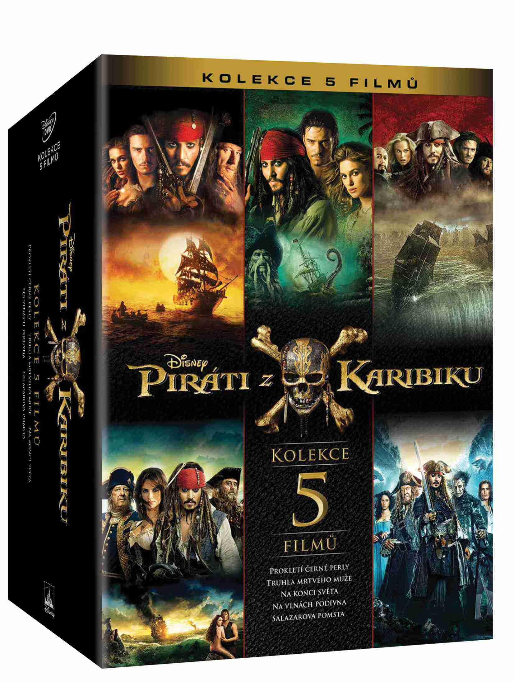PIRÁTI Z KARIBIKU KOLEKCE 1-4 - DVD
