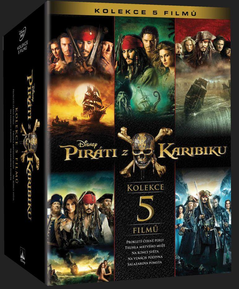 PIRÁTI Z KARIBIKU 1-5 KOLEKCE - 5 DVD