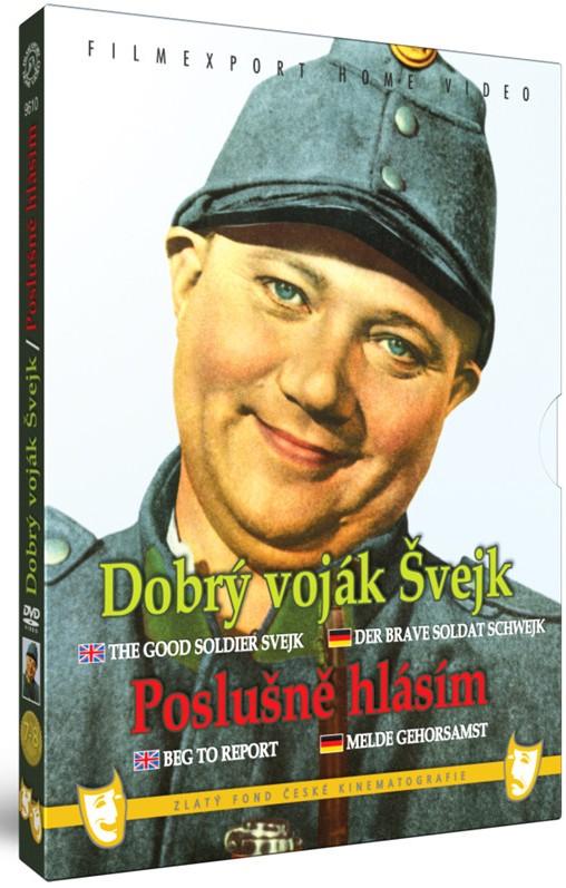 DOBRÝ VOJÁK ŠVEJK/POSLUŠNĚ HLÁSÍM - DVD