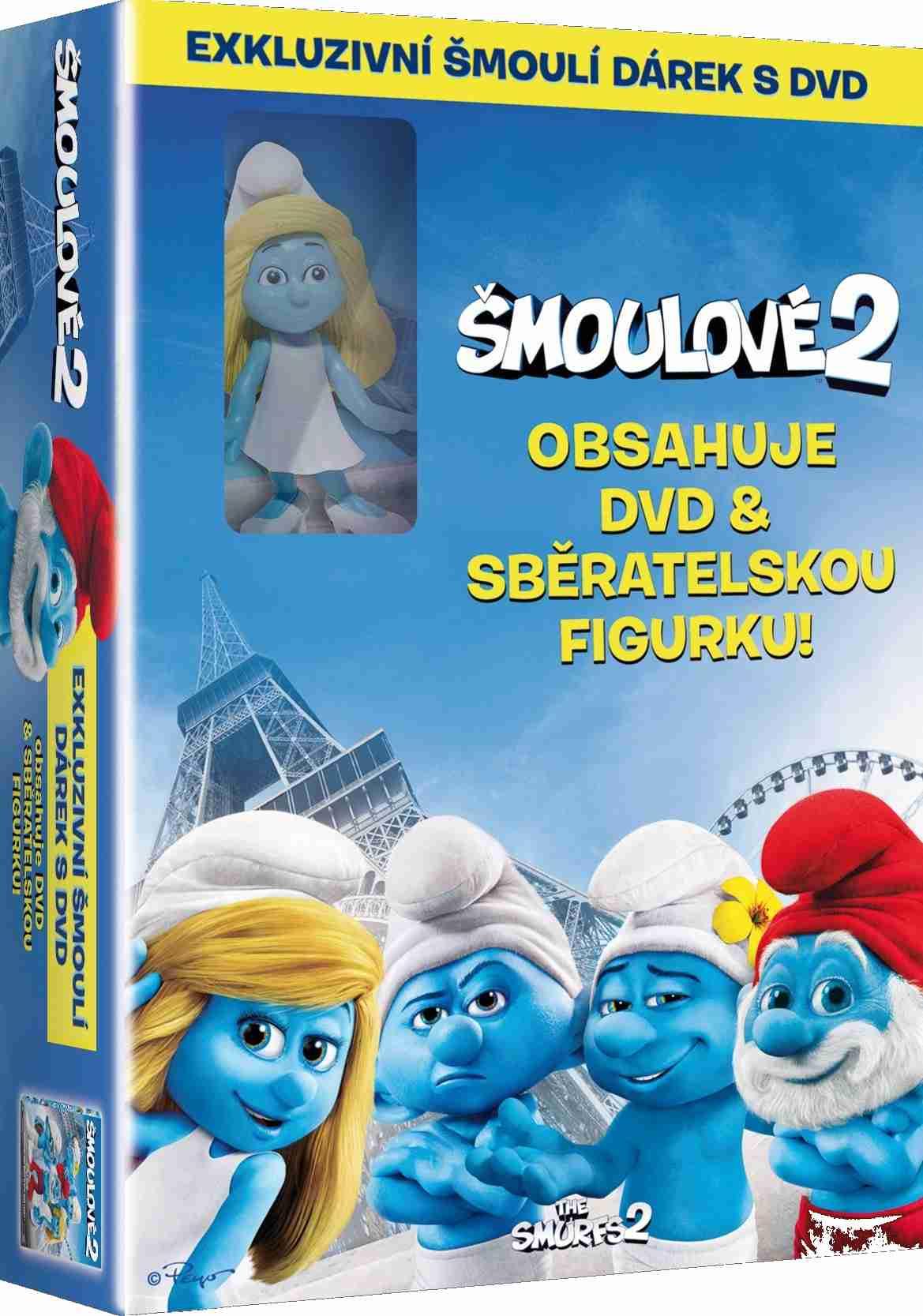 ŠMOULOVÉ 2 (2013) - DVD + figurka Šmoulinka