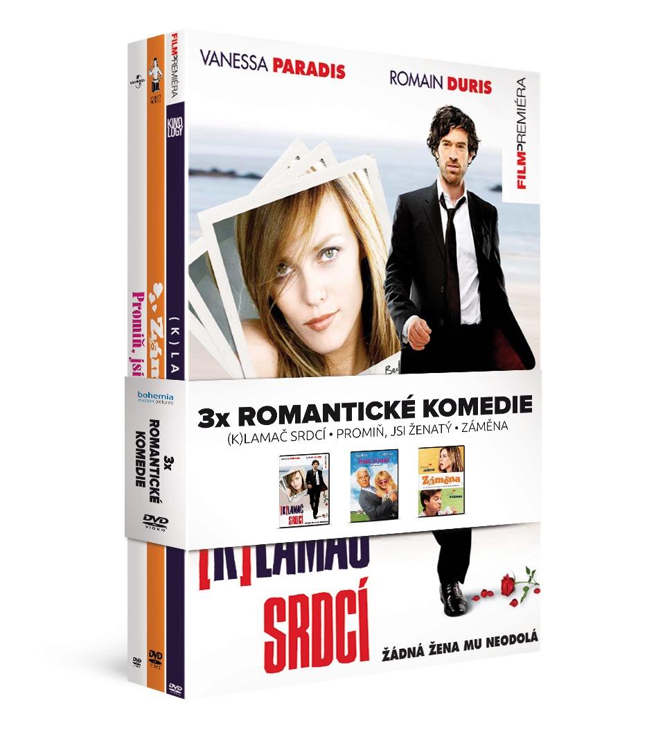 ROMANTICKÉ KOMEDIE (K)lamač srdcí + Promiň, jsi ženatý + Záměna - 3 DVD