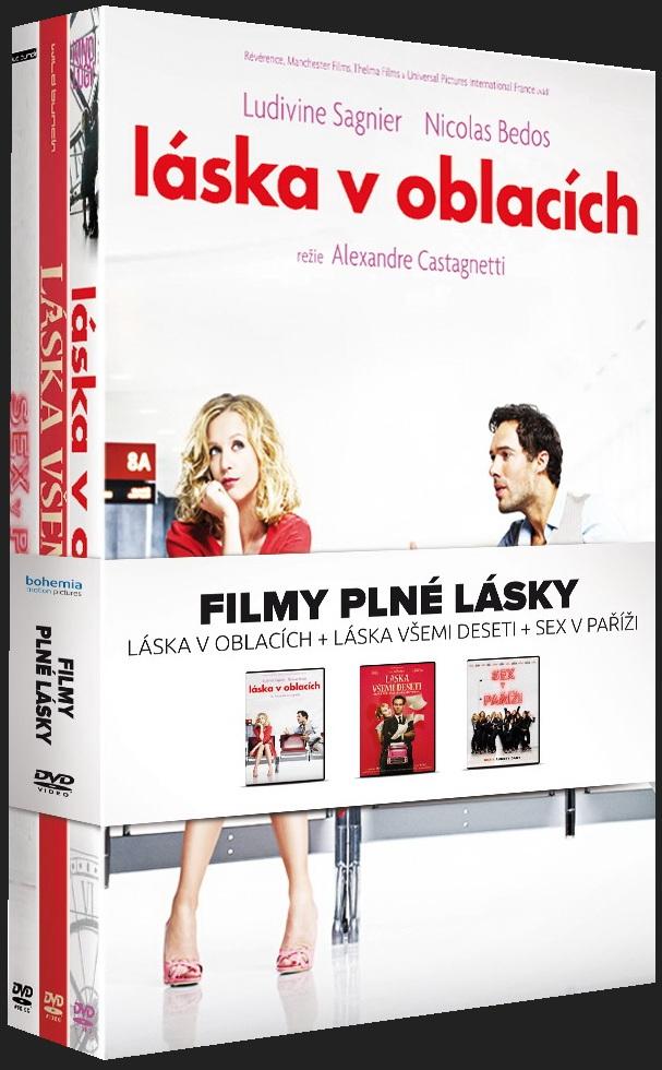 FILMY PLNÉ LÁSKY (Láska v oblacích + Láska všemi deseti + Sex v Paříži) - 3 DVD