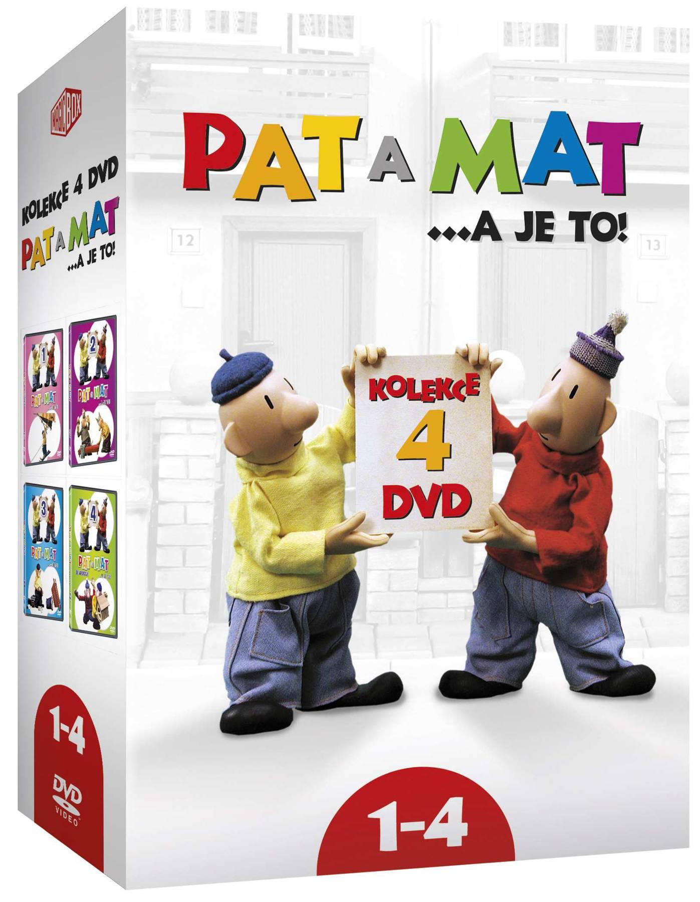 PAT A MAT (A JE TO) 1-4 KOLEKCE - 4 DVD