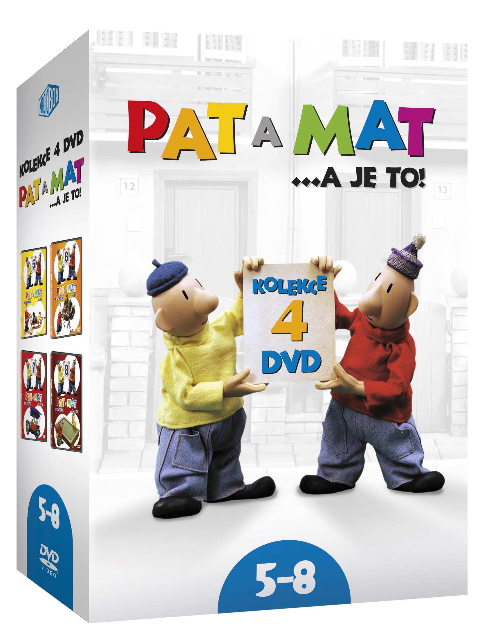 PAT A MAT (A JE TO) 5-8 KOLEKCE - 4 DVD