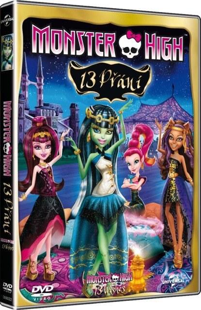 MONSTER HIGH: 13 PŘÁNÍ - DVD