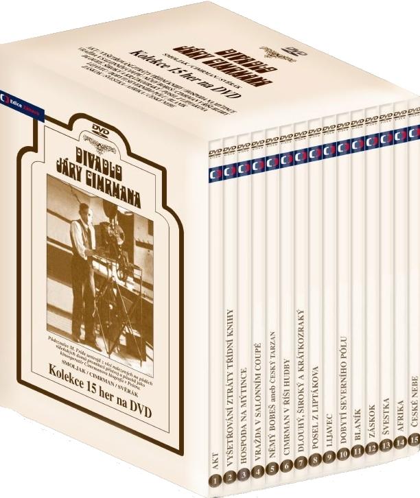 DIVADLO JÁRY CIMRMANA (Kompletní kolekce her) - 15 DVD