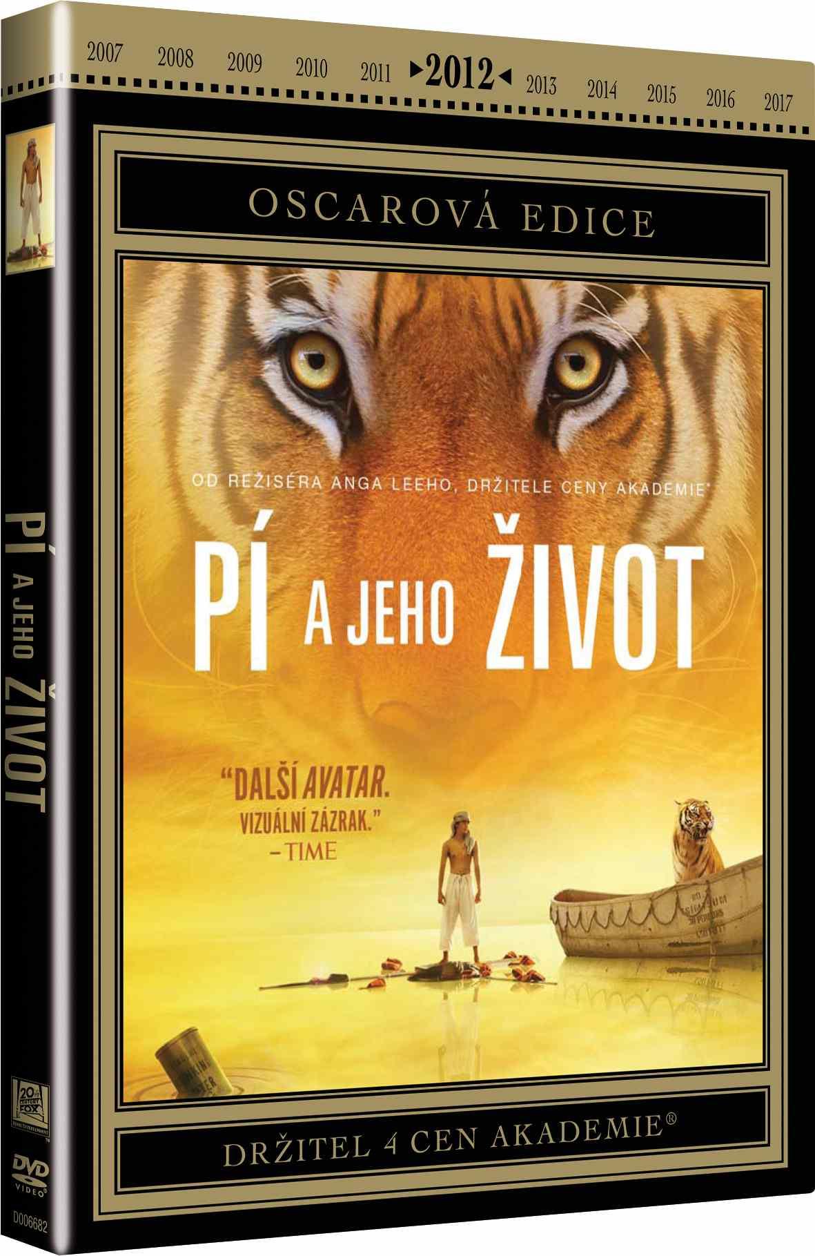 PÍ A JEHO ŽIVOT (Oscarová edice) - DVD