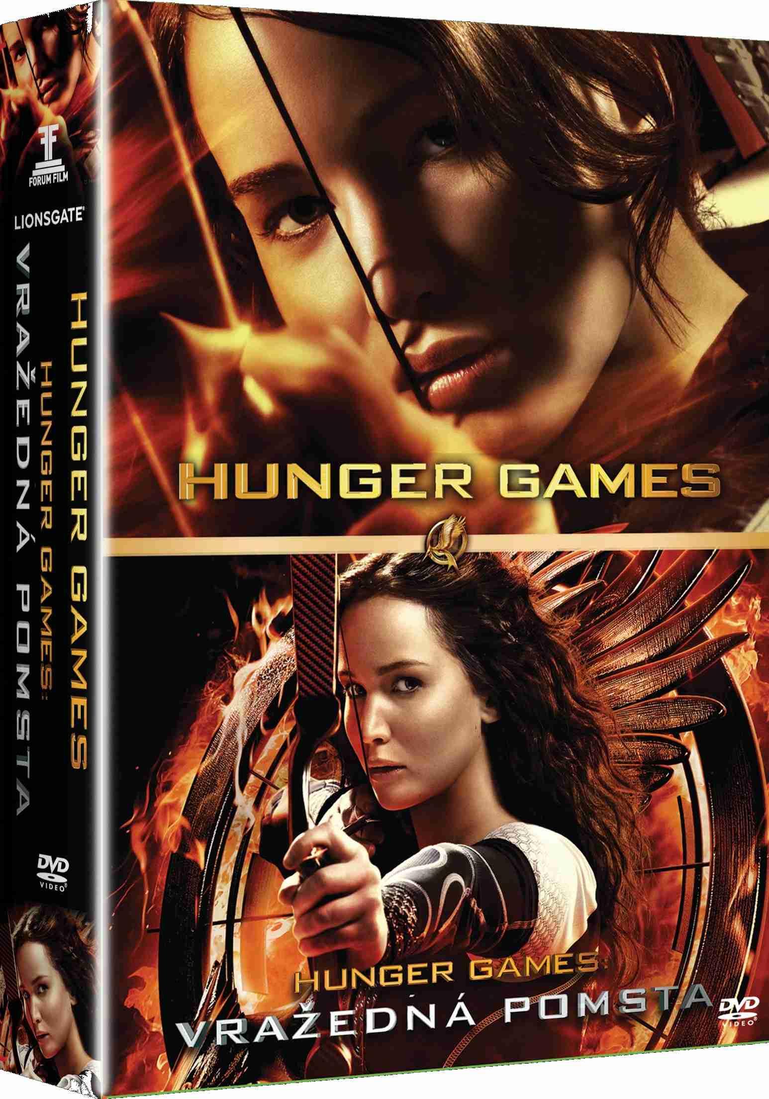HUNGER GAMES 1 + 2 KOLEKCE - 2 DVD