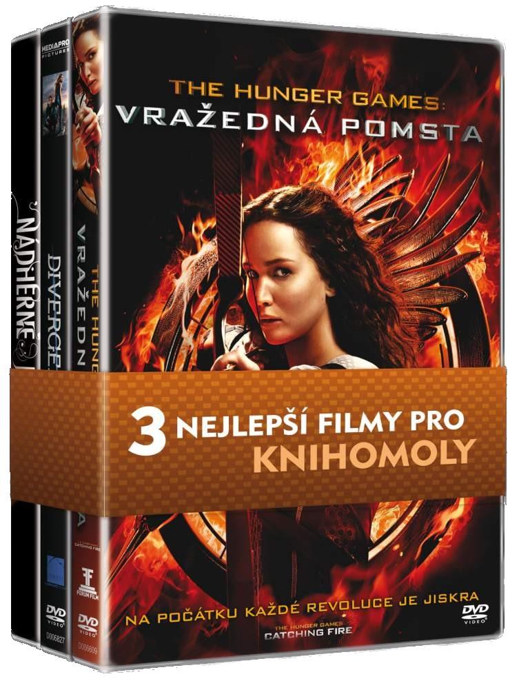 KOLEKCE PRO KNIHOMOLY (Hunger Games 2, Divergence, Nádherné bytosti) - 3 DVD