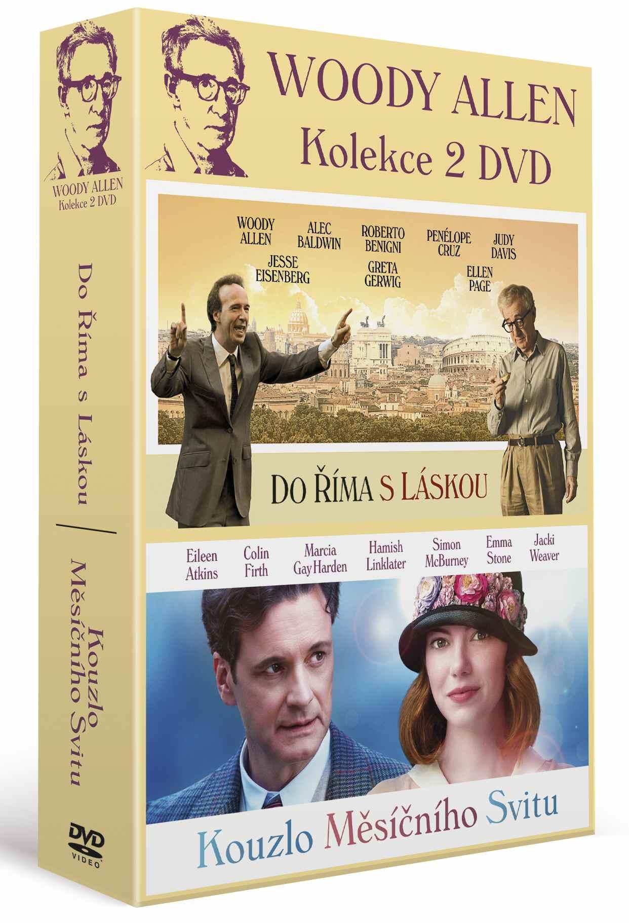 WOODY ALLEN KOLEKCE (Kouzlo měsíčního svitu + Do Říma s láskou) - 2 DVD