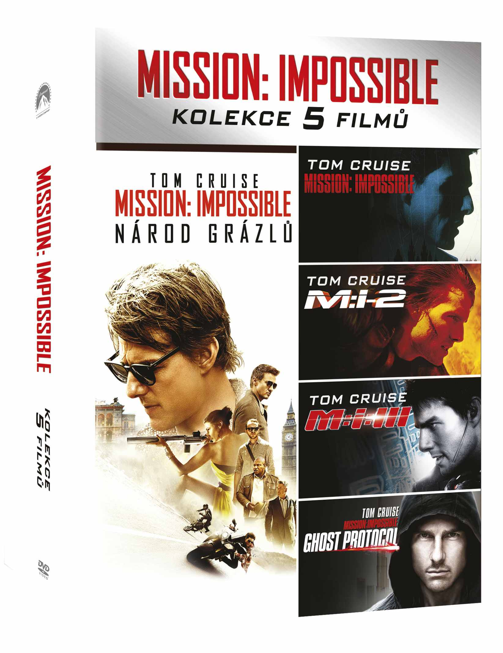 MISSION: IMPOSSIBLE 1-5 KOLEKCE - 5 DVD