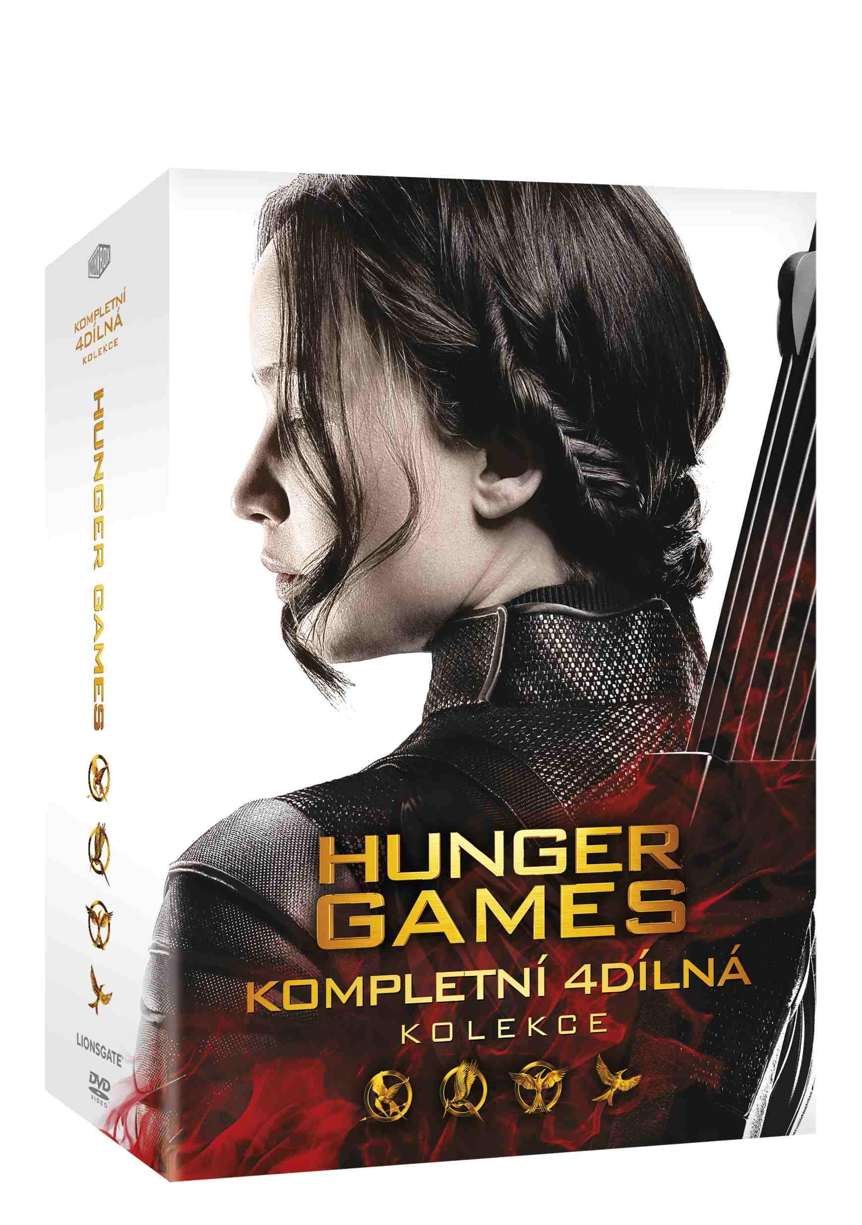 HUNGER GAMES 1-4 KOLEKCE - 4 DVD