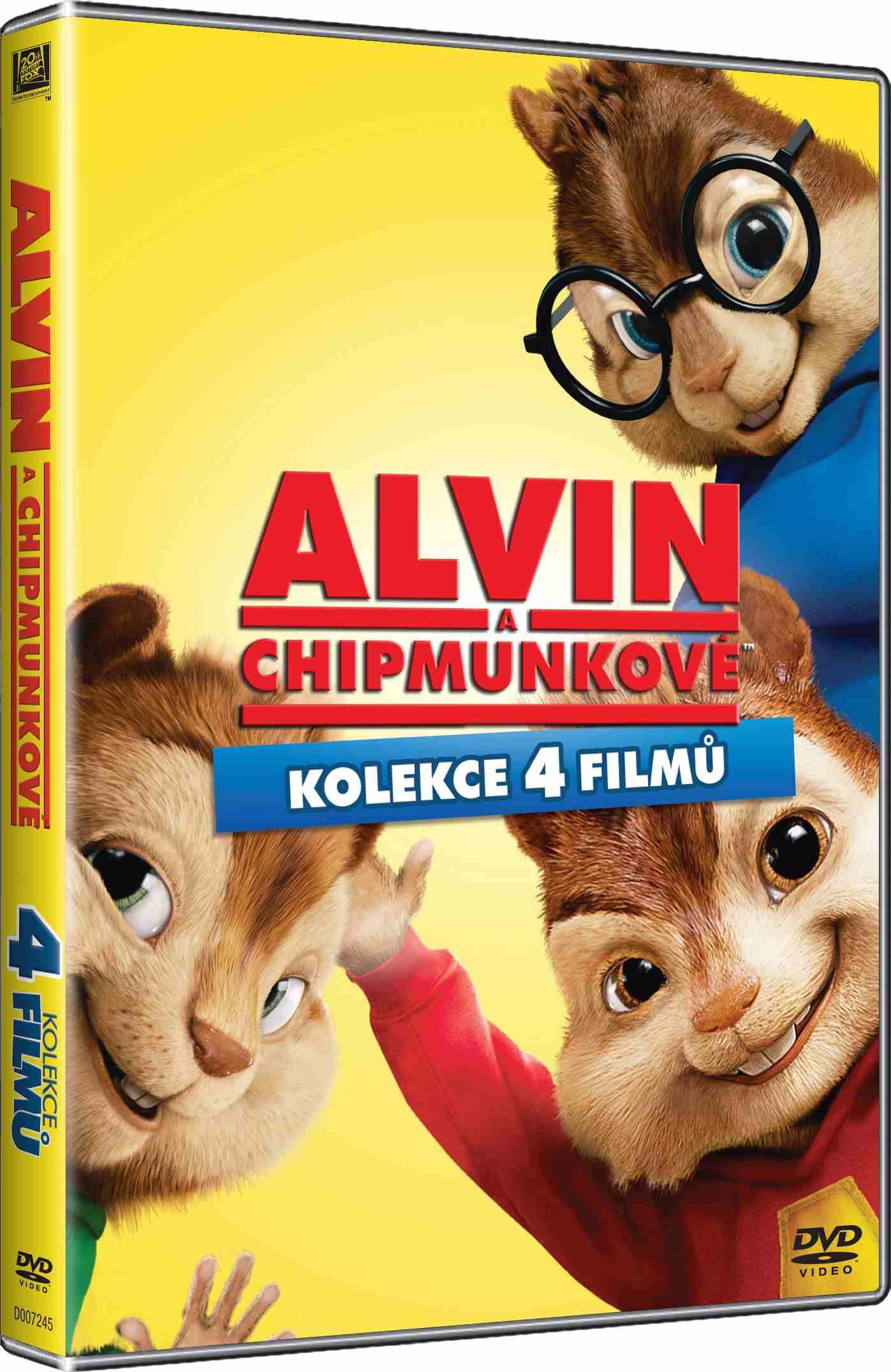 ALVIN A CHIPMUNKOVÉ 1-4 KOLEKCE - 4 DVD