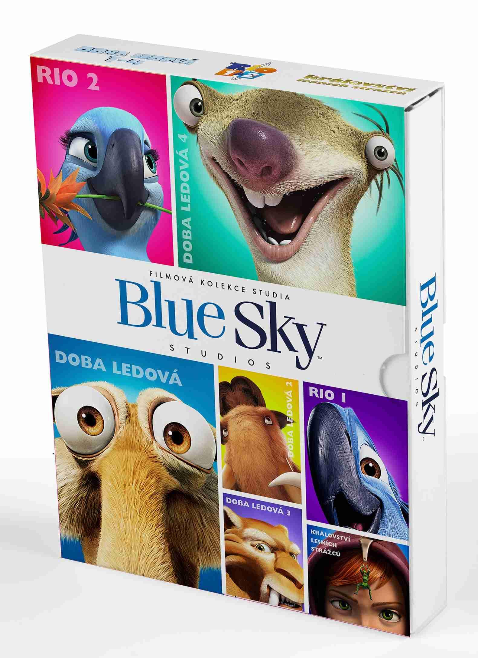 BlueSky kolekce (Rio 1+2, Doba ledová 1-4, Království lesních strážců) - 7 DVD