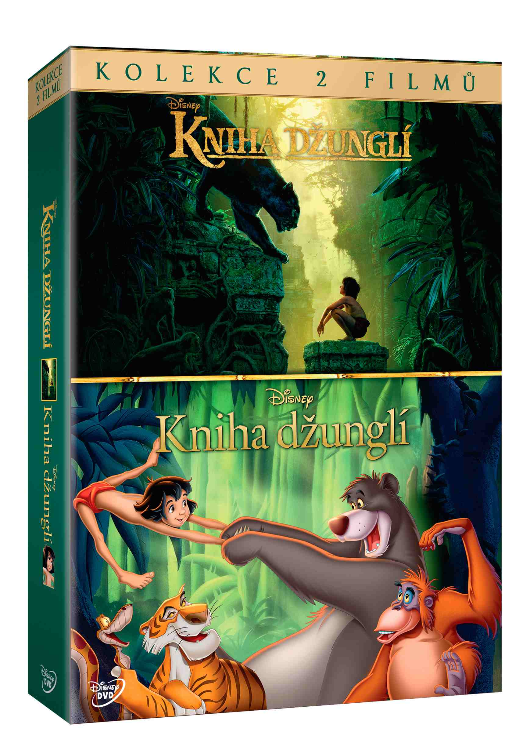 KNIHA DŽUNGLÍ KOLEKCE - 2 DVD