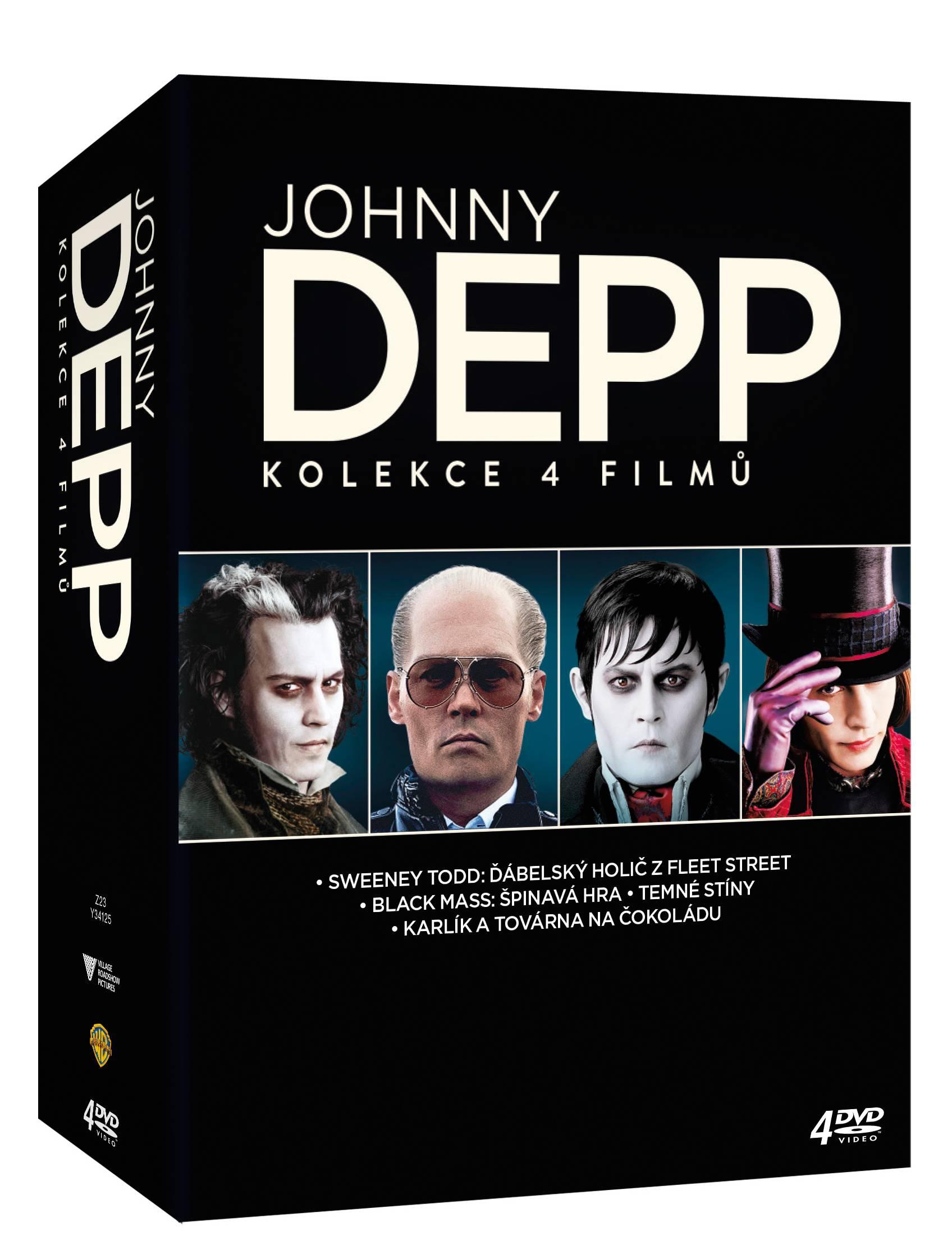 JOHNNY DEPP KOLEKCE - 4 DVD