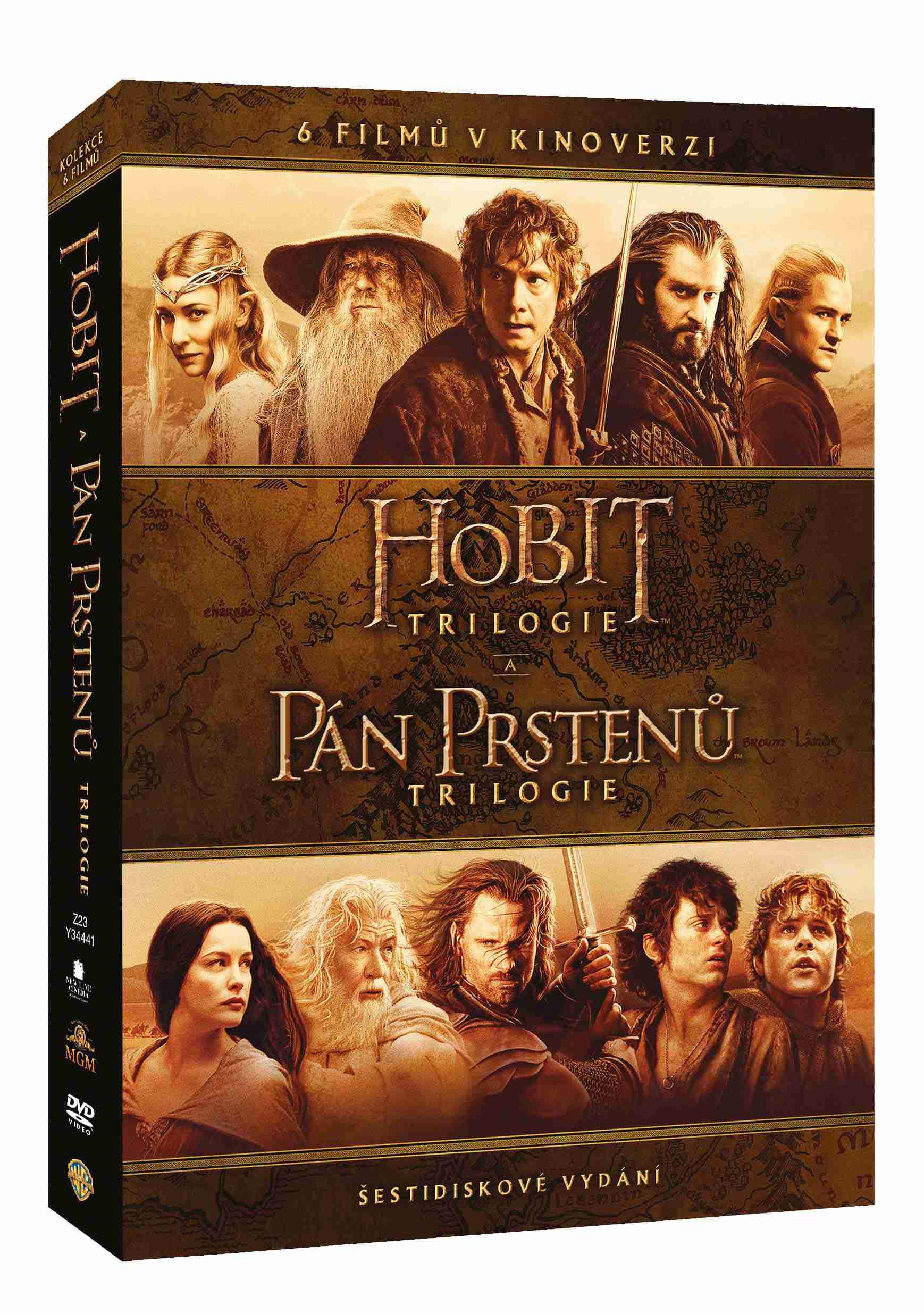 Středozemě Kolekce (Kinoverze) - 6 DVD
