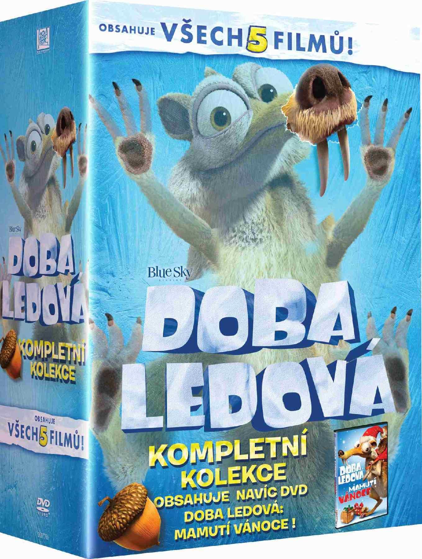 DOBA LEDOVÁ 1-5 KOLEKCE - 5 DVD + bonus Mamutí Vánoce