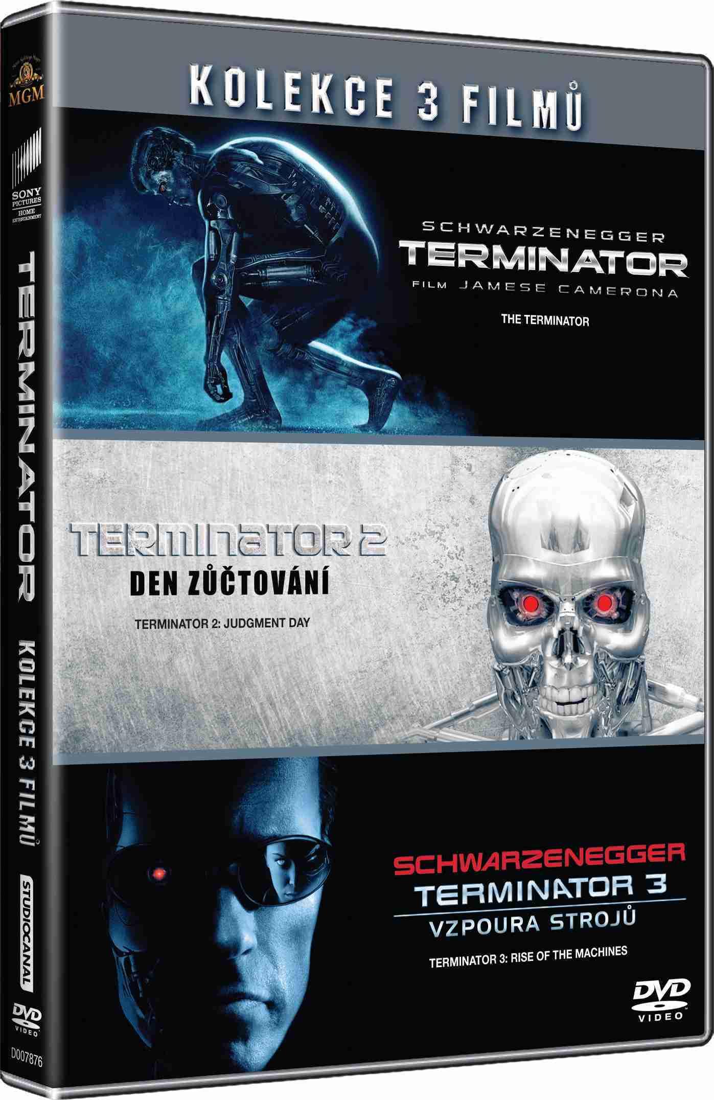 TERMINATOR 1-3 KOLEKCE - 3 DVD