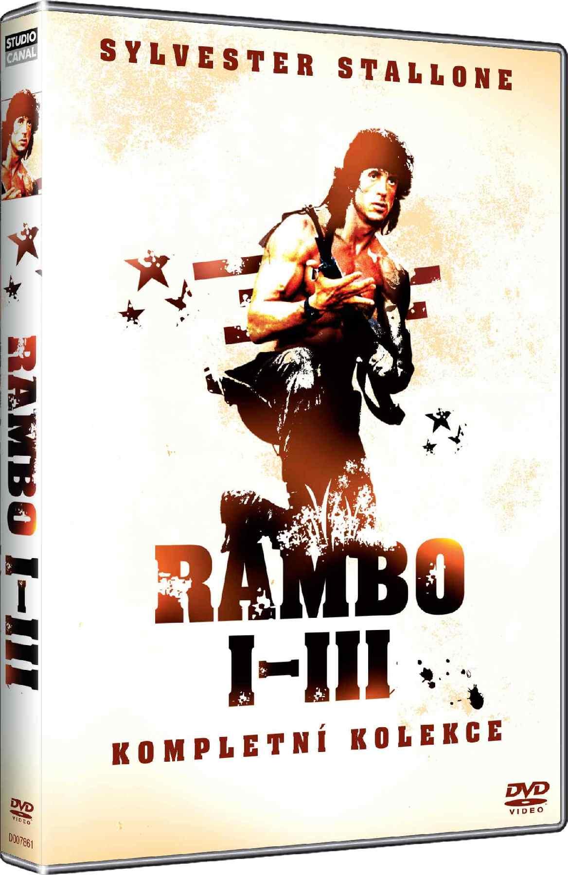 RAMBO 1-3 KOLEKCE - 3 DVD