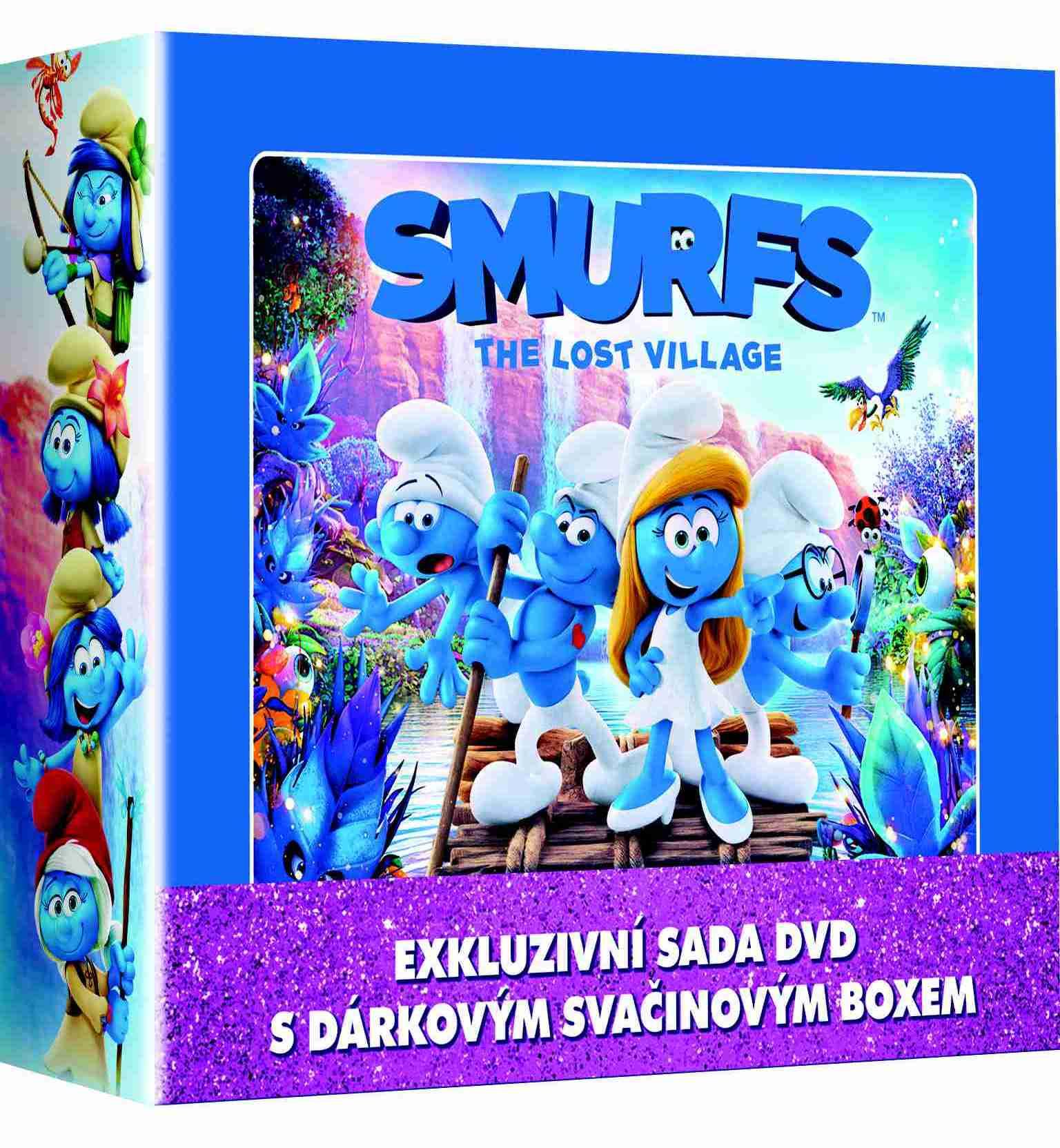 Šmoulové 1-3 Svačinový plechový kufřík - kolekce 3 DVD