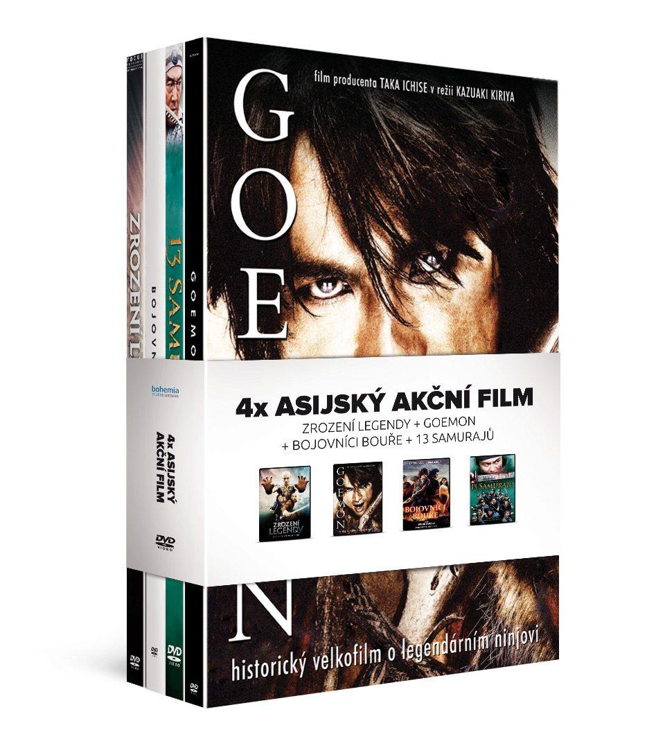 4x Asijský akční film (4DVD): Zrození legendy + Goemon + Bojovníci bouře + 13