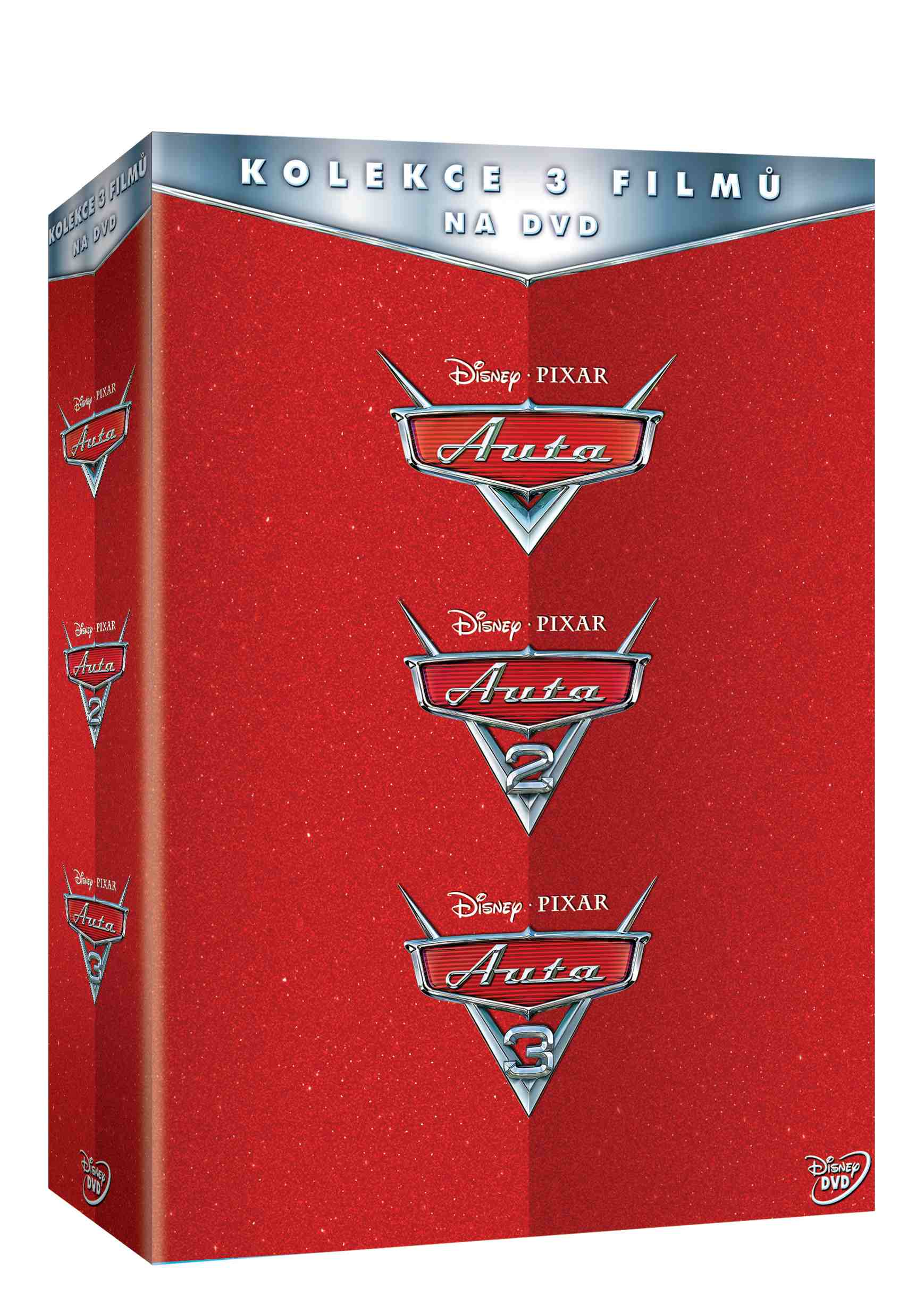 Auta 1-3 kolekce - 3 DVD