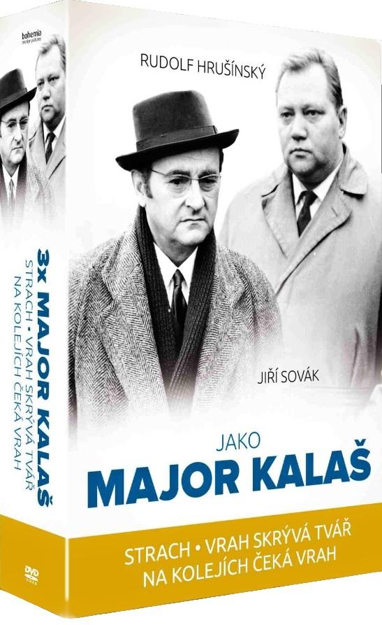 Kolekce 3x Major Kalaš (Strach, Vrah skrývá tvář, Na kolejích čeká...) - 3 DVD