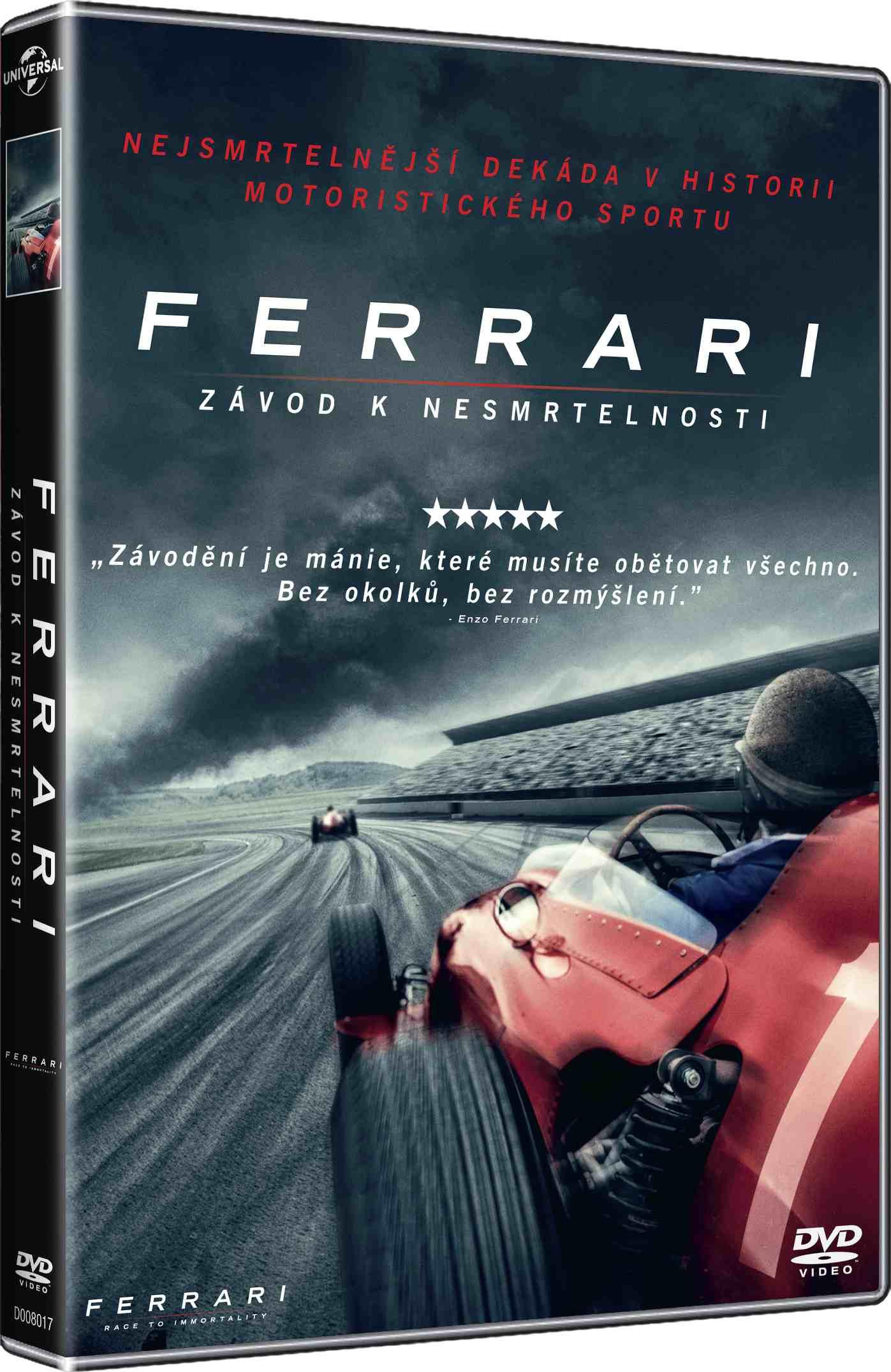 Ferrari: Závod k nesmrtelnosti - DVD