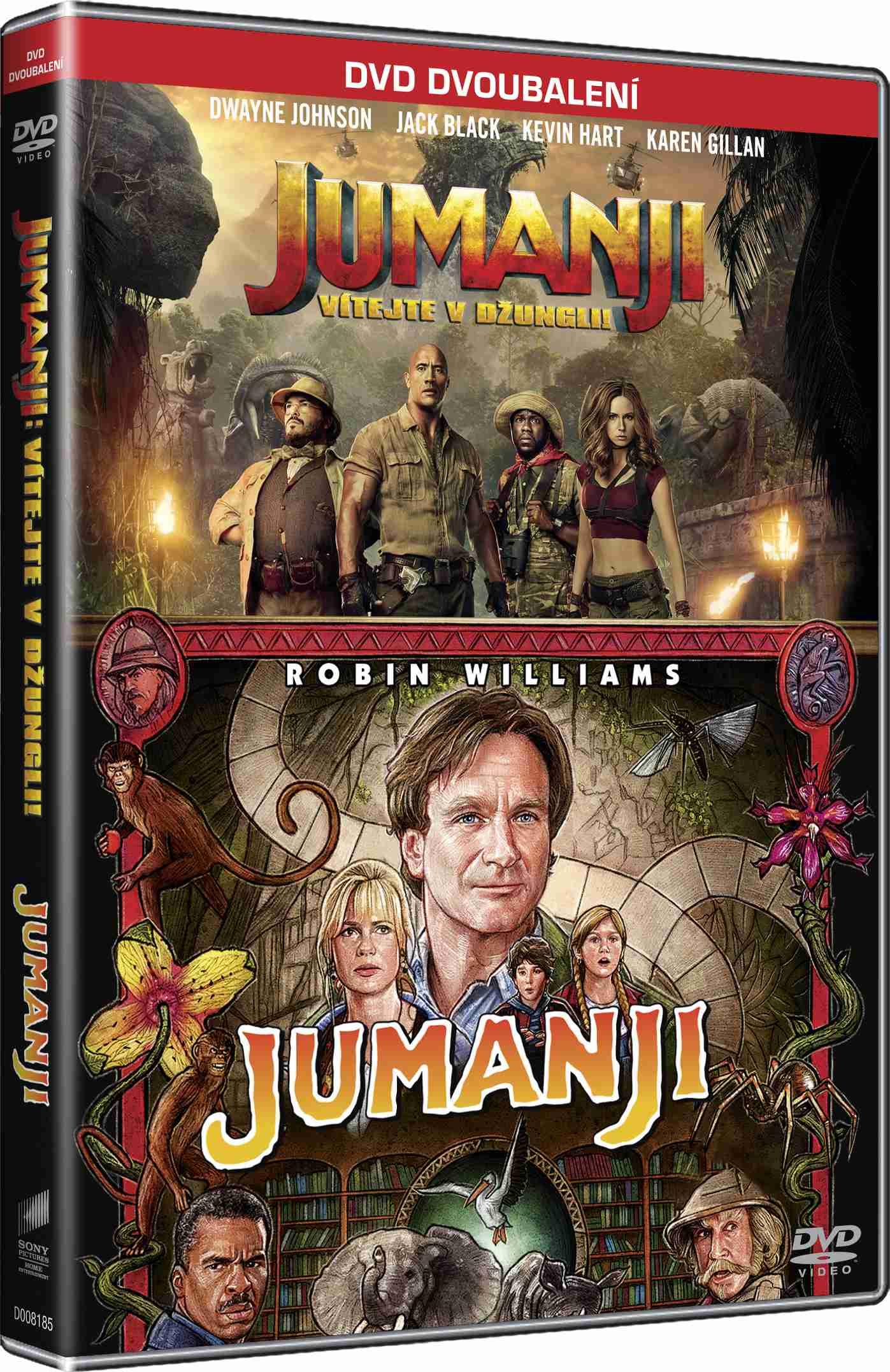 Jumanji 1+2 kolekce - 2 DVD (SK obal)