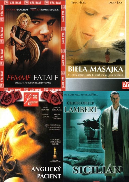 Kolekce pro ženy (Bílá masajka, Anglický pacient, Sicilián, Femme Fatale) - DVD