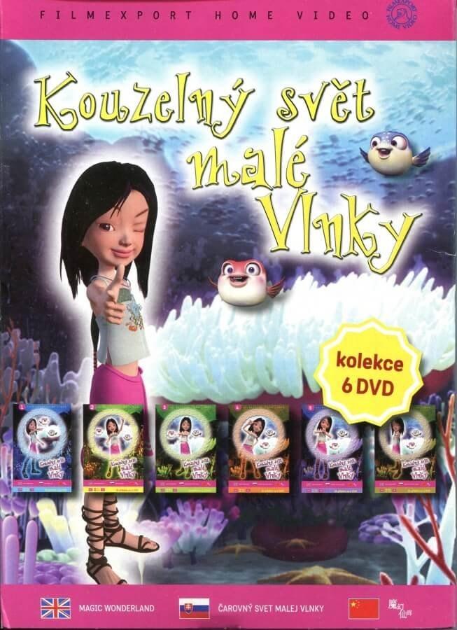 Kouzelný svět malé Vlnky - 6 DVD pošetky