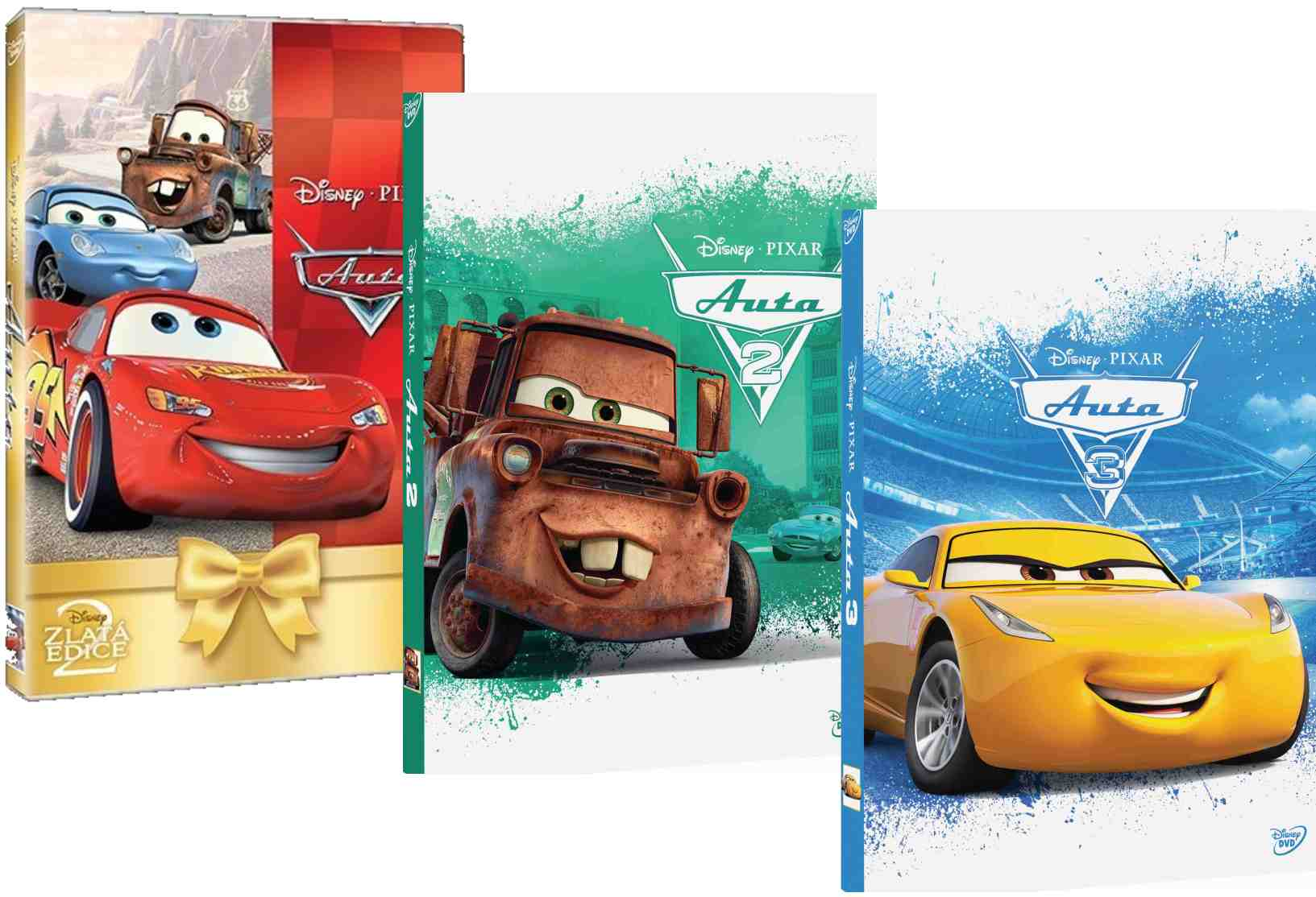 Auta 1-3 - DVD kolekce