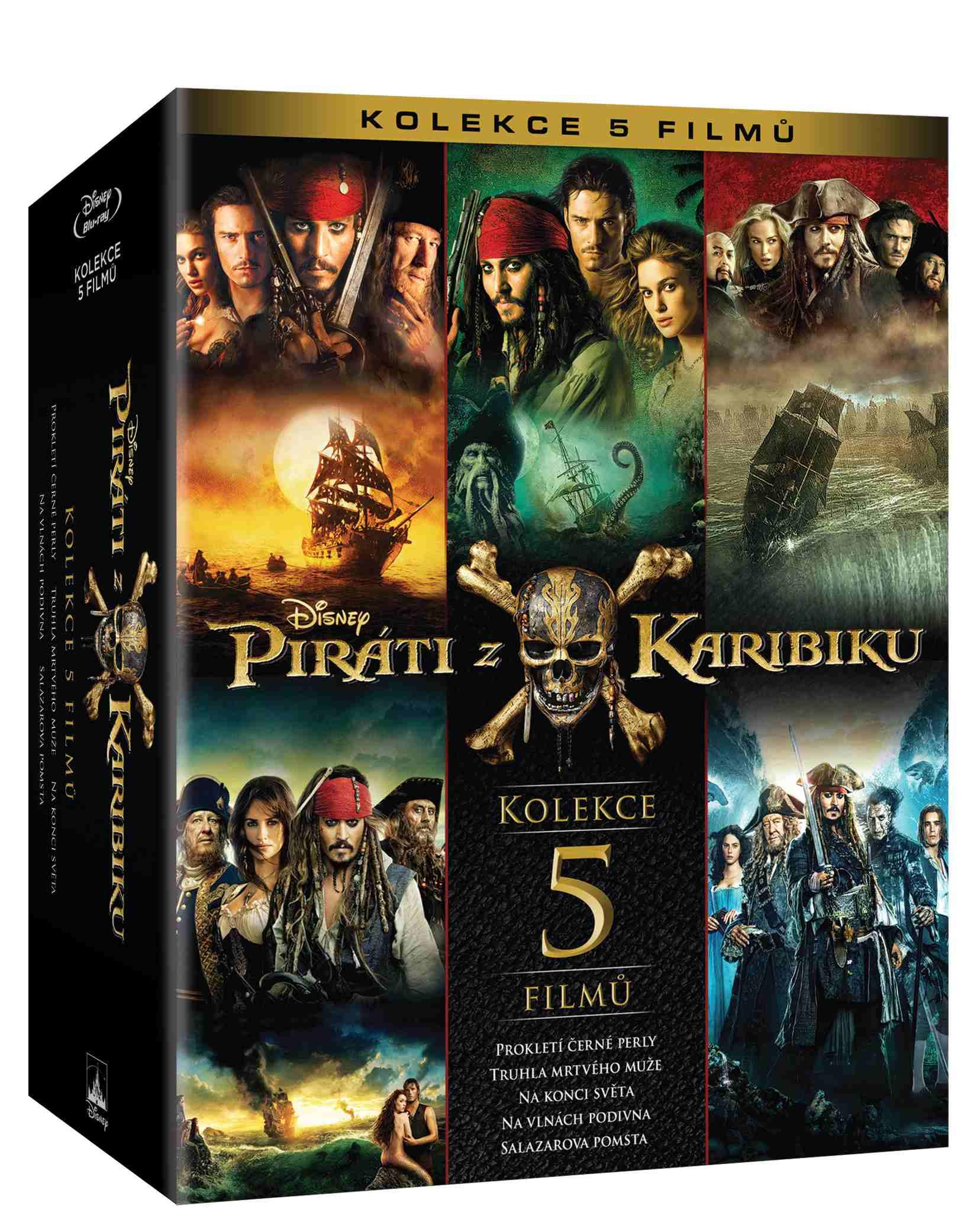 PIRÁTI Z KARIBIKU KOLEKCE 1-4 - Blu-ray