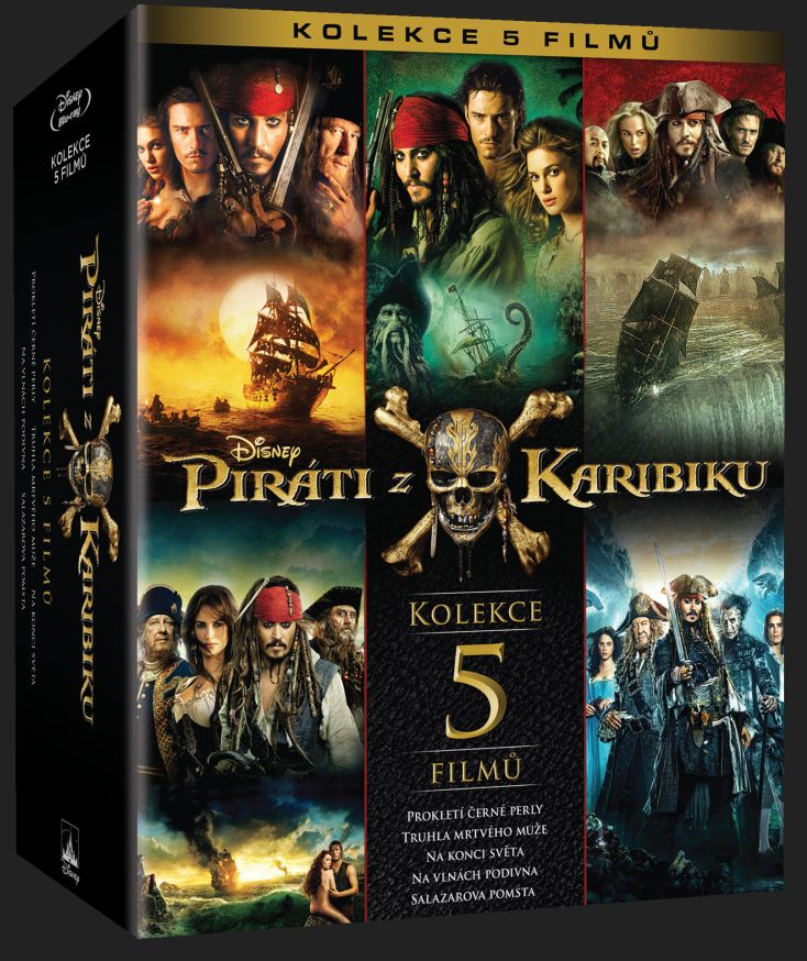 PIRÁTI Z KARIBIKU 1-5 KOLEKCE - Blu-ray (5 BD)