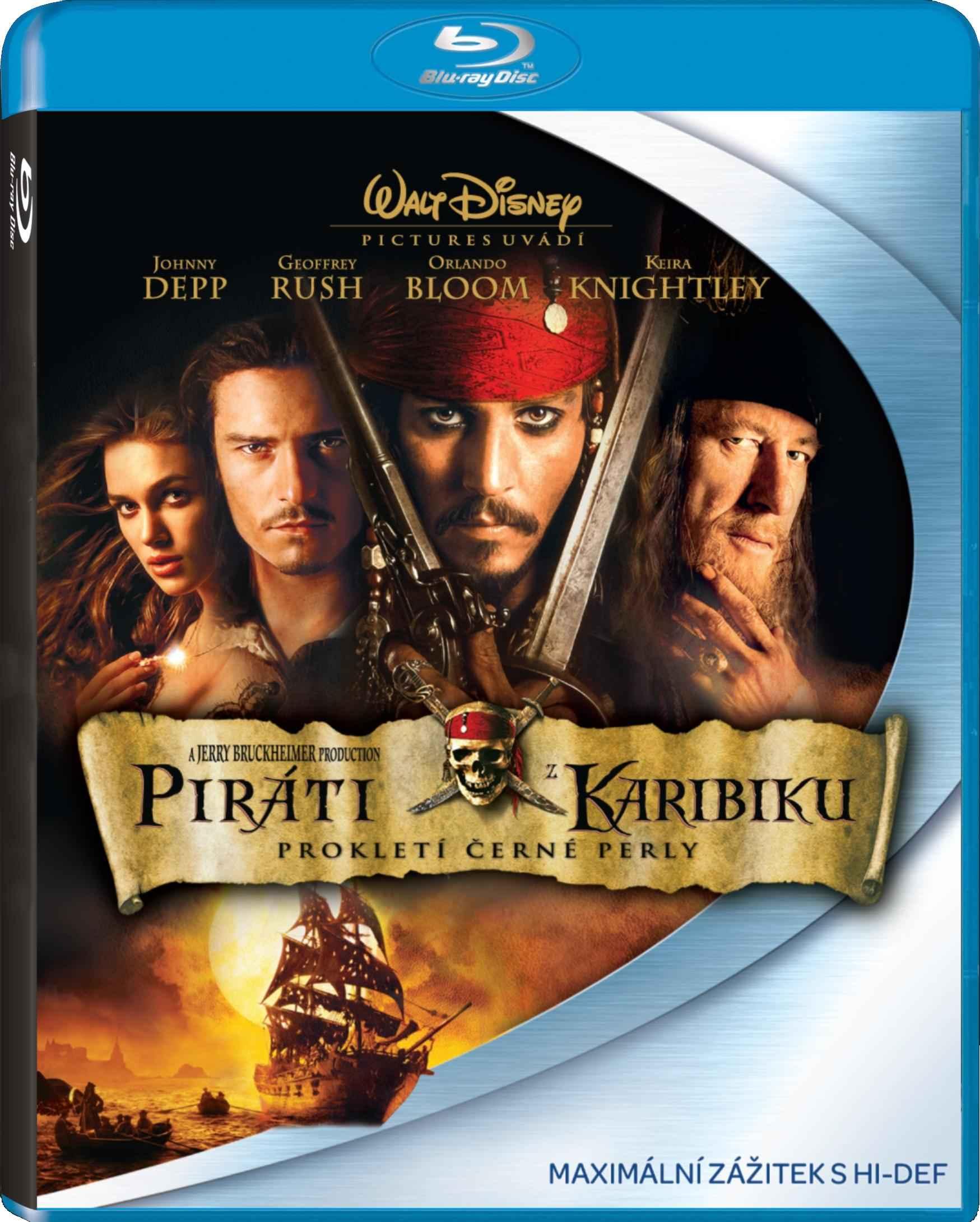 Piráti z Karibiku 1: Prokletí Černé perly - Blu-ray