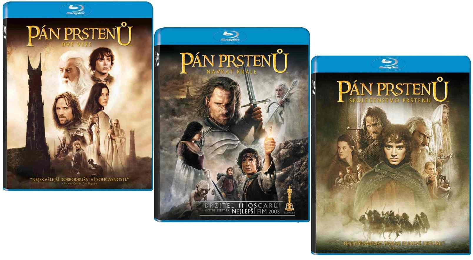 PÁN PRSTENŮ - TRILOGIE - Blu-ray
