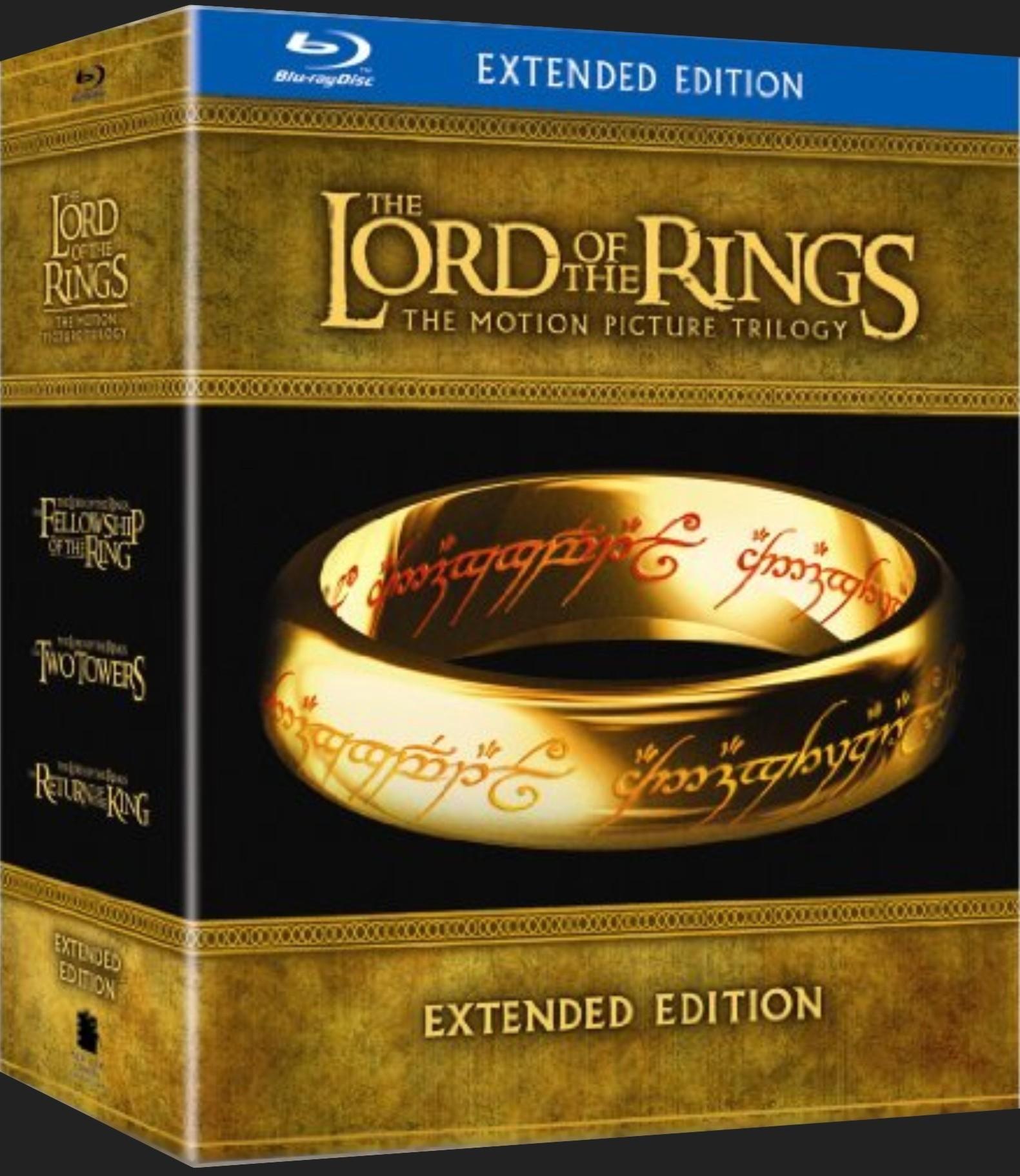Pán Prstenů trilogie: Prodloužená verze - Blu-ray (6 BD + 9 DVD)