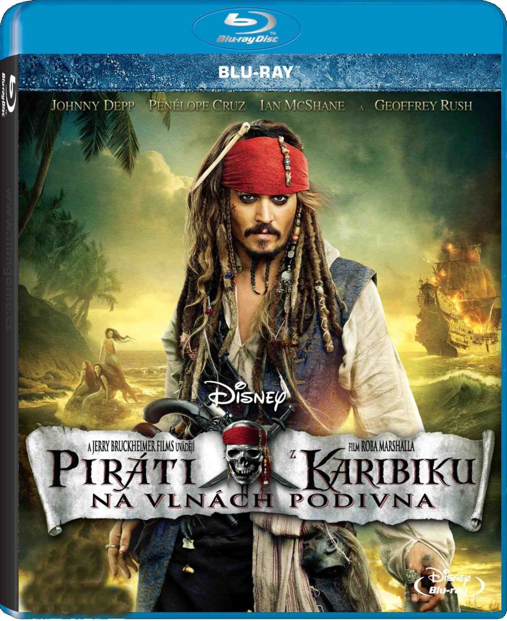 PIRÁTI Z KARIBIKU 4: NA VLNÁCH PODIVNA - Blu-ray