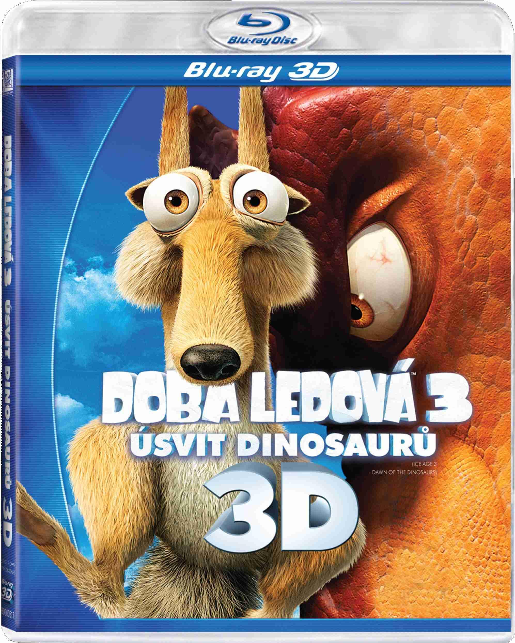 DOBA LEDOVÁ 3: ÚSVIT DINOSAURŮ 3D - Blu-ray 3D (1BD)