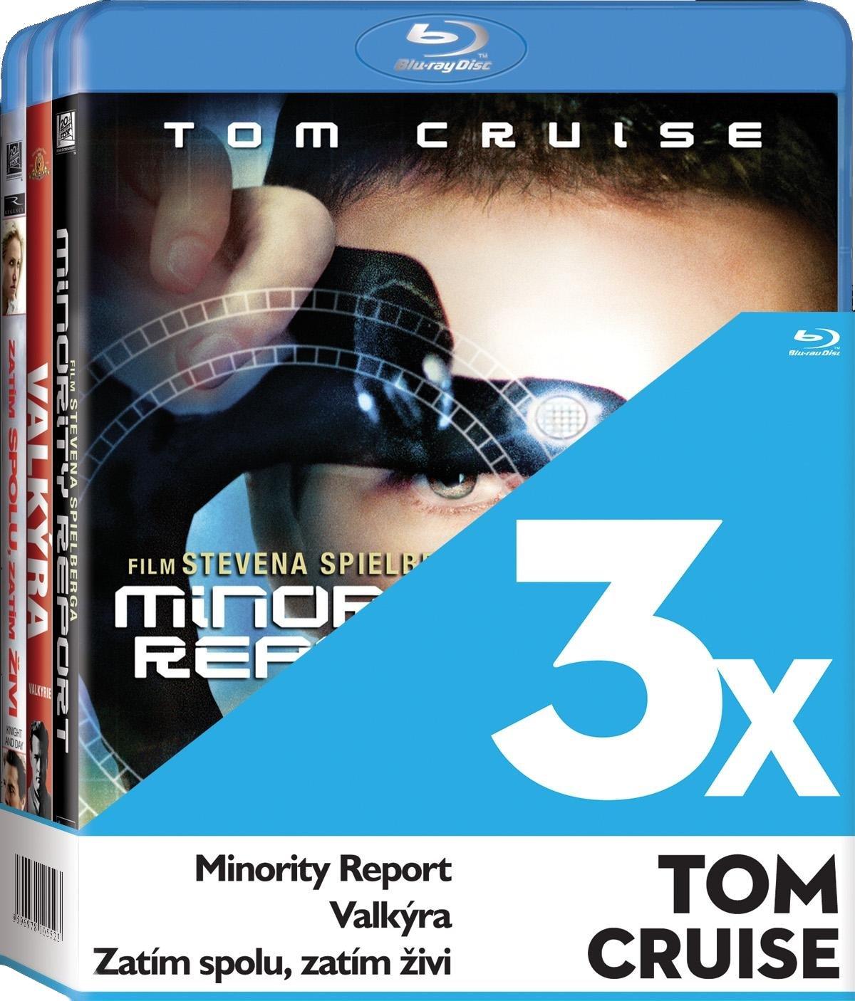 TOM CRUISE (VALKÝRA,MINORITY REPORT,ZATÍM SPOLU,ZATÍM ŽIVÍ ) - Blu-ray