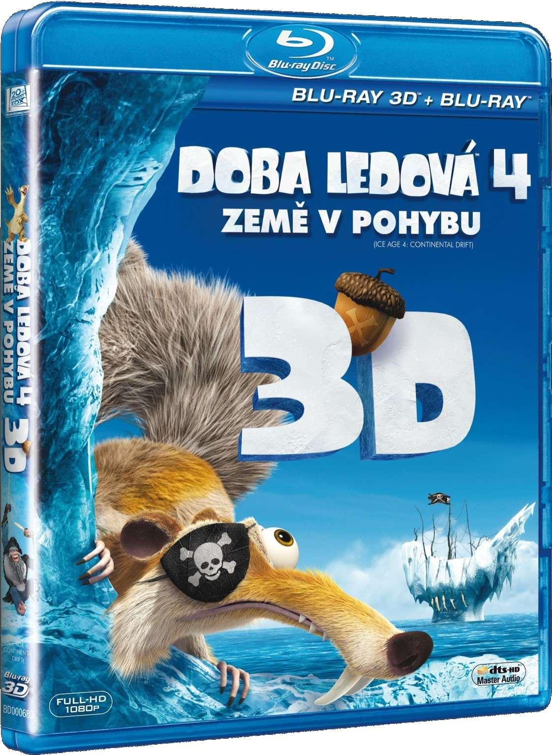 DOBA LEDOVÁ 4: ZEMĚ V POHYBU - Blu-ray 3D + 2D
