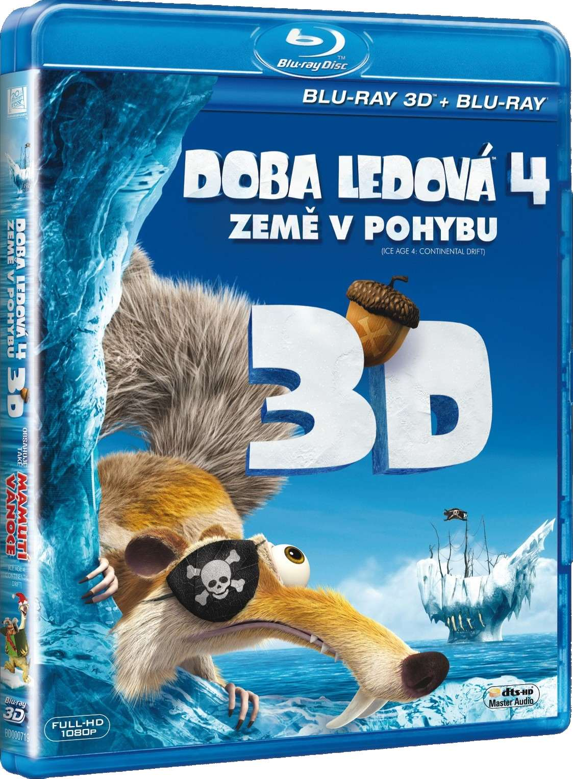 DOBA LEDOVÁ 4: ZEMĚ V POHYBU (3D+2D) + MAMUTÍ VÁNOCE 3D - Blu-ray 3D