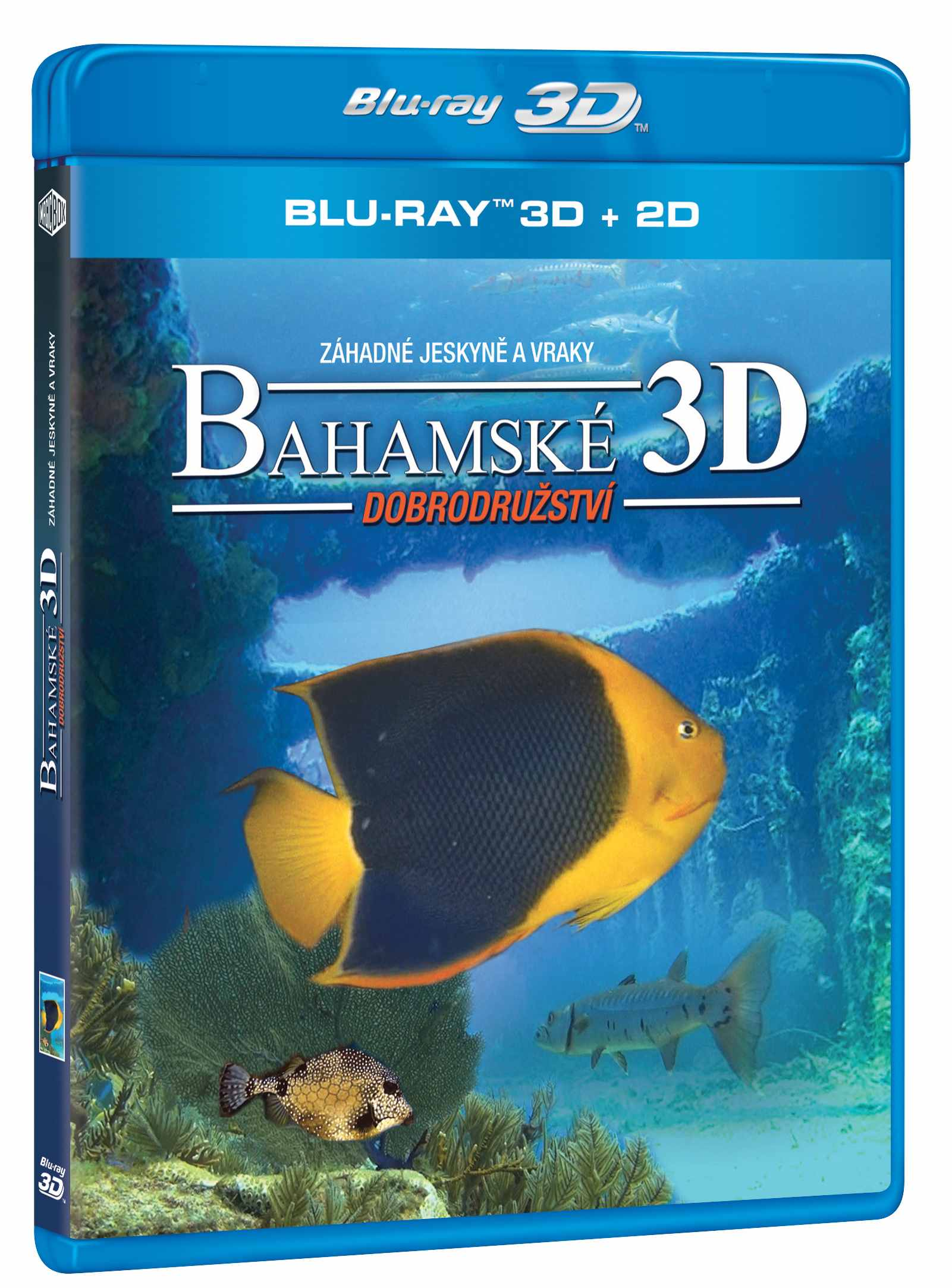 BAHAMSKÉ DOBRODRUŽSTVÍ 3D: Záhadné jeskyně a vraky - Blu-ray 3D + 2D