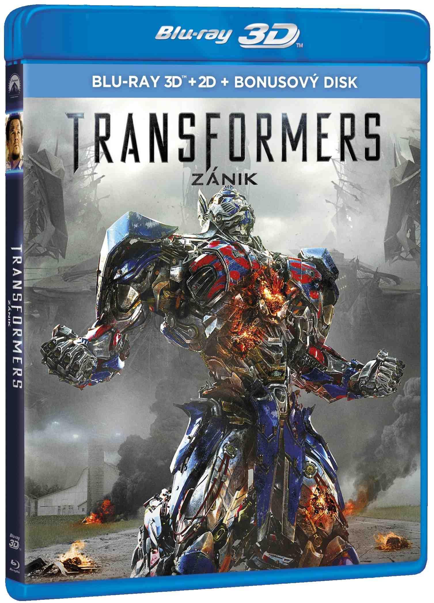TRANSFORMERS 4: ZÁNIK - Blu-ray 3D + 2D + bonus BD