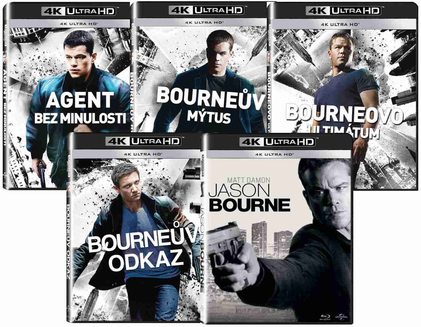 BOURNEOVA KOLEKCE 4 FILMŮ (4 BD) - Blu-ray